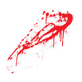 Blood splatter. In vector illustration Royalty Free Stock Photos