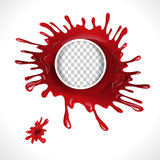 Blood splatter circle frame Stock Photos