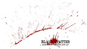Blood splatter elements on white background . Criminal concept . Vector.  Royalty Free Stock Photography