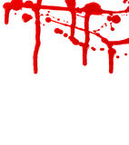 Blood splatter flow Stock Images