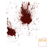 A blood splatter graphic on white. Vector. Stock Photo