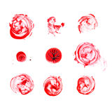Blood splatter isolated. Stock Image