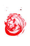 Blood splatter isolated. Blood splatter isolated on white background, top view Royalty Free Stock Photo