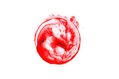 Blood splatter isolated. Blood splatter isolated on white background, top view Stock Image