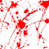 Blood splatter seamless tile. Blood splatter seamless pattern on white surface Stock Photography
