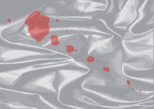 Blood Splatter On Silk Royalty Free Stock Image