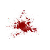 Blood splatter on white background Stock Images