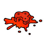 Blood splattered heart cartoon Royalty Free Stock Image