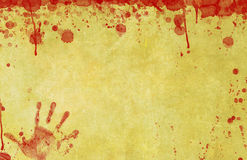 Blood Splattered Paper Background Royalty Free Stock Photos