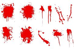 Blood splatters Stock Image