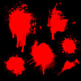Blood splatters Stock Photos