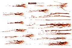 Blood Splatters, Drops and Drips Stock Photo