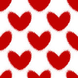 Blood splatters and hearts seamless pattern Royalty Free Stock Image