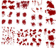 Blood splatters illustrations Stock Photography