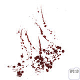 Blood splatters isolated on white. Clipping path. Stock Photo