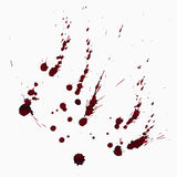 Blood splatters texture vector. Illustration Royalty Free Stock Photos
