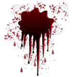 Blood spot design Stock Images