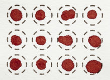 Blood spot test Royalty Free Stock Photography