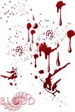 Blood spots. Blood splatter spray drip spots Royalty Free Stock Photos