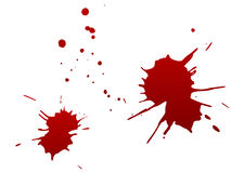 Blood spots Stock Photo