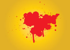 Blood stain - vector Stock Image