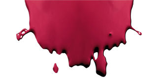 Blood stain on white background Stock Photo