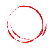 Blood stain. On white background Stock Photos