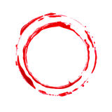 Blood stain. On white background Royalty Free Stock Images