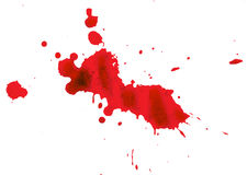 Blood stain on white background Royalty Free Stock Photo