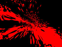 Blood stained background. Red on black vector illustration