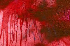 Blood stained wall Royalty Free Stock Image