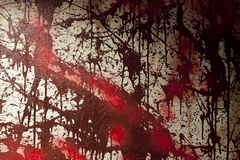 Blood Stained Wall (Fake) stock image