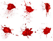 Blood stains. Isolated on white background vector illustration
