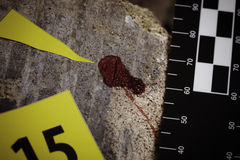 Blood stains on crime scene Stock Image
