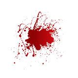 Blood stains isolated on white background Royalty Free Stock Images