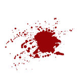 Blood stains isolated on white background Stock Photos