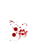 Blood stains isolated on white background Royalty Free Stock Photo