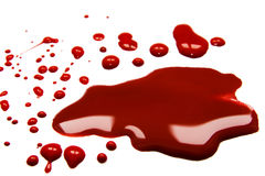 Blood stains. Blood  stains (puddle) isolated on white background Stock Photo
