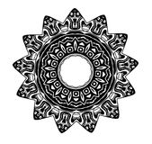 Blood Star Glyph Symbol. Clipart illustration of a black and white tribal glyph symbol Royalty Free Stock Photo