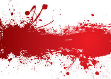 Blood strip banner Stock Photography