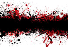 Blood strip top black Royalty Free Stock Image