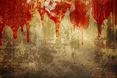 Blood on stucco wall Royalty Free Stock Photo