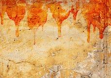Blood on stucco wall Stock Image