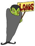 Blood Sucking Lender. An image of a vampire offering financial loans Royalty Free Stock Photo