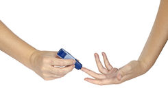 Blood sugar exam Royalty Free Stock Photography