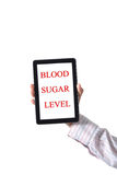 Blood sugar level  Stock Photo