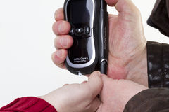 Blood sugar measuring device Stock Photos