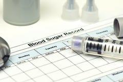 Blood Sugar Record Royalty Free Stock Image