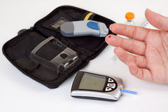 Blood sugar test Stock Image