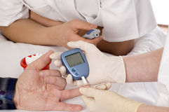 Blood sugar test. Royalty Free Stock Photos